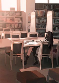 /r/Moescape is a place to post all of your favorite artworks and screen caps of cute Anime characters in their environment. Aesthetic Images, Aesthetic Anime, Aesthetic Art, Aesthetic Wallpapers, Art Anime, Anime Art Girl, Anime Scenery Wallpaper, Leather Dining Room Chairs, Dining Chairs