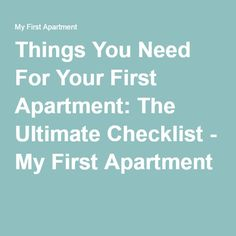 1000 ideas about first apartment checklist on pinterest apartment checklist first apartment. Black Bedroom Furniture Sets. Home Design Ideas