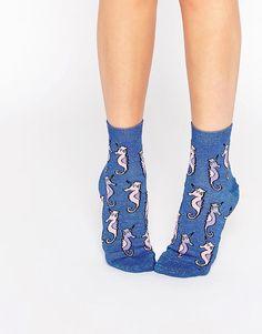 ASOS+Glittery+Seahorse+Ankle+Socks