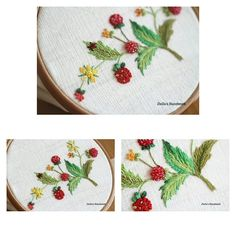 #strawberry  embroidery#embroidery #stitch #프랑스자수