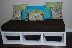 I'm making 2 storage daybeds for Molly and Ella.  So simple!
