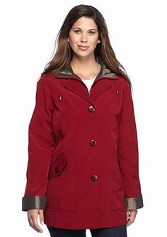Gallery Anorak A-line Button Front Coat