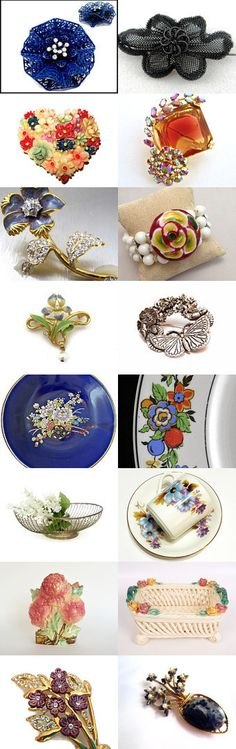 #Flowers at #Vintage #VogueTeam #EtsyRetwt #JewelTweets