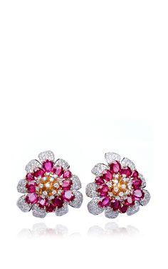Floral Bliss Earring by Farah Khan Fine Jewelry for Preorder on Moda Operandi