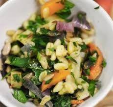 Tarweslaatje met geroosterde groenten · EVA maakt het plantaardig
