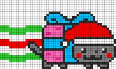 Christmas Nyan Cat Perler Bead Pattern / Bead Sprite   I made this. Probably because there is something wrong with me.