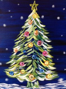 Image result for Painting with a Twist Christmas #paintingsubjects #painting #subjects #canvases