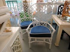 Ordinaire Pair Of RATTAN Ficks Reed Fan Chairs As Head Chairs :)