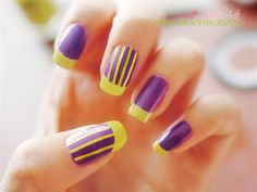 Purple with yellow stripes. western carolina colors haha :)