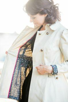 """création couture Ivanne Soufflet - tissu """"Like a dandy"""" Atelier Brunette - photo Vanesse Bureau"""