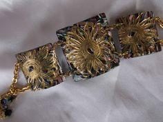Segmented polymer bracelet by Lori Von der Puetten