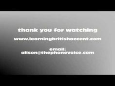 British Accent practice video - Some rhyming words.  Improve your RP British accent pronunciation with these short videos.  More british accent training at http://www.learningbritishaccent.com