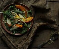 Roasted Pumpkin Arugula Salad