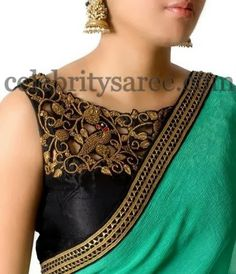 Cut Work Sleeve Less Blouse | Saree Blouse Patterns