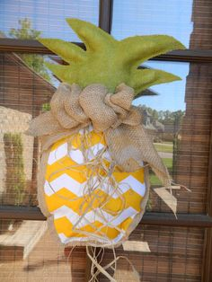 Hey, I found this really awesome Etsy listing at https://www.etsy.com/listing/188371268/pineapple-burlap-door-hanger