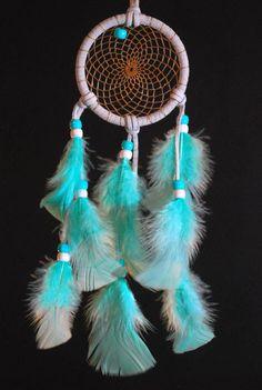 Aqua Blue Feather Catcher