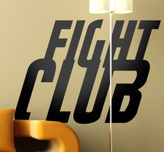 Room Stickers - From the classic film starring Brad Pitt & Edward North, the typeface from Fight Club. Decals inspired by classic films and hit TV series.  #FightClub #stickers #movie