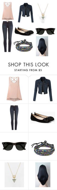 """Assassin-Revelation"" by lilac-halo ❤ liked on Polyvore featuring Glamorous, LE3NO, Paige Denim, MANGO, Ray-Ban, AeraVida and ASOS"
