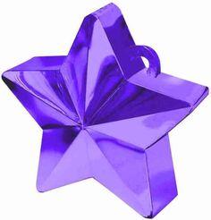Balloon Weight, Purple Star | 1ct.