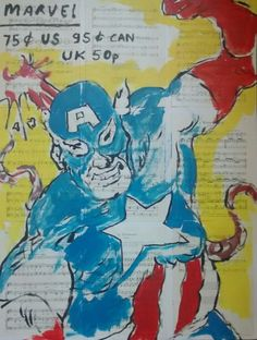 Buy Captain America, Acrylic painting by Jack  O'Hara on Artfinder. Discover thousands of other original paintings, prints, sculptures and photography from independent artists.