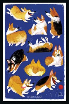 Image of Corgi Chaos - Signed Artist Print (Various Sizes Available)