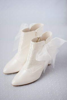 Bruidsschoenen vintage laarsjes syttd