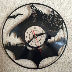 #Batman clock from vinyl.
