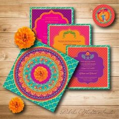 For those who want to fill loads of colour to their wedding ceremony | wedding invitation | wedding inspiration | wedfine.com | wedding venues |