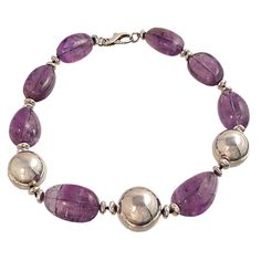 Necklace made of valuable Brazilian Amethyst