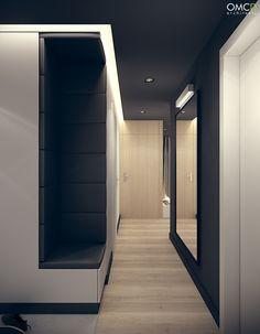 Architecture and interior design in Poland. Entry Hallway, Entrance Hall, Foyer, Hall Interior Design, Interior Architecture, Apartment Interior, Apartment Design, Vestibule, Liberty Home