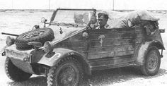 Afrika Korps Kubelwagen which was resurrected in the as the Volkswagen Thing Afrika Corps, North African Campaign, German Helmet, Kdf Wagen, Germany Ww2, Armored Vehicles, War Machine, Military History, World War Two