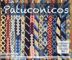 Surtido de Pulseras Patuconicos hechas a mano en Corazon de Tiza