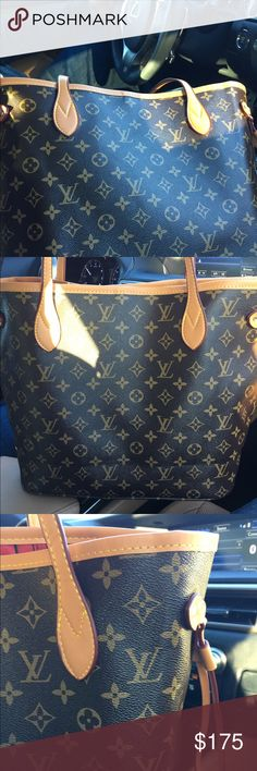My husband is making me sell this, ❤️ this bag! Excellent quality AAA Designer inspired carried once. Large neverfull tote. No stains or damage. Gets lots of compliments. Matching wristlet included. You won't find this quality at this price! Bags Totes