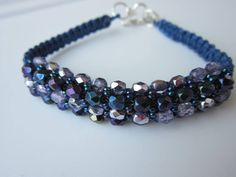 Shamballa Bracelet . Faceted Beads and Seed Beads. Браслет в стиле Шамба...