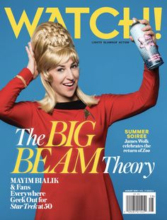 The Big Bang Theory's Mayim Bialik celebrates Star Trek's 50th anniversary in the August issue of CBS Watch! Magazine!