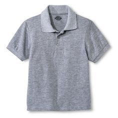 Dickies Big Boys' Pique Polo - Heather Grey M, Boy's, Size: Medium