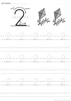 2 sayısı rakamı çalışma sayfası ve 2 rakamı yazma çalışmaları etkinlikleri oyunları, kağıdı indirme çıktı alıp yazdırma. Free numbers worksheets download and Numbers Preschool, Finger Plays, Step Kids, Writing Numbers, Childcare, Songs, Activities, Learning, Free
