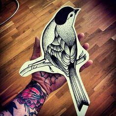 dotwork bird