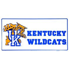 WinCraft NCAA University Kentucky Wildcats 4 x 19 Plastic Street Sign