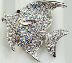 Jeweled Fish Statement Ring/Cocktail Ring/Gift by victoriascharms