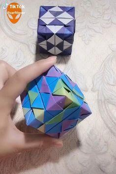 Paper Crafts Origami, Paper Crafts For Kids, Diy Arts And Crafts, Creative Crafts, Instruções Origami, Origami And Kirigami, Origami Ideas, Diy Crafts Hacks, Diy Crafts Videos