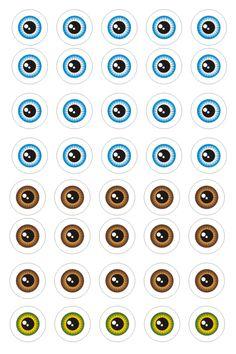 Plantillas de ojos (4) Halloween Templates, Eye Sketch, Lure Making, Mini Chandelier, Sculpture Clay, Elephant Sculpture, Paper Models, Copic Markers, Cold Porcelain