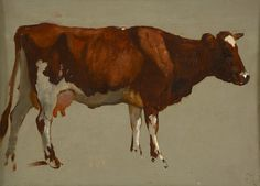 Dutch School, 19-120th century, Study of a cow, o/c