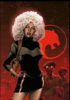 Storm(as a black panther representative)