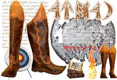 Egy nem Kárpát-medencei feltárás rekonstrukciója. Az UTEMILJAI és a MUZSI ezüsttál lovasa oldalt varrott csizmában tartja a lábát.