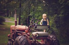 Photo Idea... Toddler and Tractor St. John Photography, Wake Forest, NC stjohn-photography.com