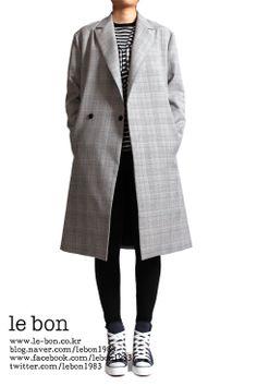 le bon destiny coat(글랜체크) : minimal & over size coat
