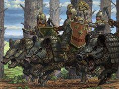 Dwarf Boar Riders