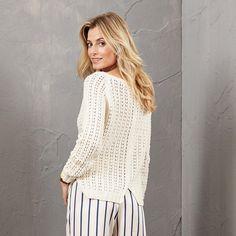 Modell 468/5, Pullover aus Merino-Cotton von Junghans-Wolle « Damenpullover « Strickmodelle Junghans-Wolle « Stricken & Häkeln - Damenpullover - mehr als 100 verschiedene Strickmuster im Junghans-Wolle Creativ-Shop kaufen