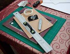 How to cut a mount to fit any sized frame. Ideal for fitting unusual size images into charity shop frames!